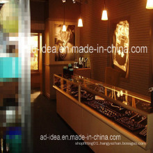 High Quality Jewelry Display Cabinet/LED Light Platfond Jewelry Showroom Cabinets