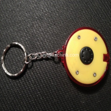 Promosi Pusingan Led Keyrings One Button Touch