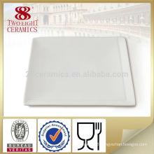 Ceramic household bone ash clay unique square shape dinner plate
