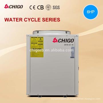 Água rachada da bomba de calor da piscina do calefator e do refrigerador de CHIGO mini para a piscina
