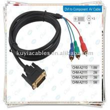 CABLE COMPOSANT DVI TO 3RCA POUR PC LAPTOP Téléviseur LCD