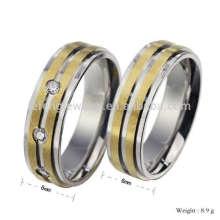 Изготовленный на заказ золотые и серебряные кольца полосы для пар,влюбленных кольцо 22ct золотое кольцо