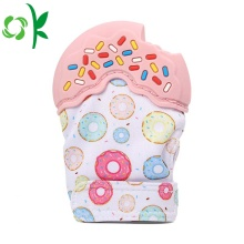 Bayi silikon yang dibungkus Teether Mitten Teething Glove