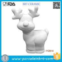 Pintura de cerámica sin pintar en blanco blanca de Rudolph del bricolaje