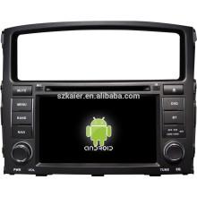 Lecteur multimédia de voiture système Android pour Mitsubishi Pajero avec GPS, Bluetooth, 3G, ipod, jeux, double zone, commande au volant
