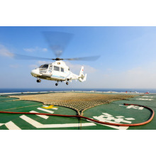 Sicherheitsnetz des Sisalseils der Hubschrauberplattform