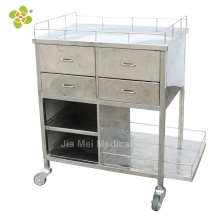 Stainless Steel Medical Trolley Cart With Drawer
