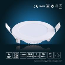 3W LED Panel Lighting φ 85*16mm
