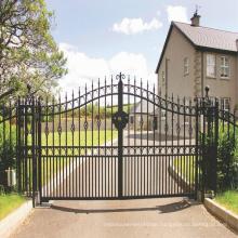 Hot Sale Beautiful Residential Wrought Iron Gate Designs Welded house gate metal aluminium gate designs