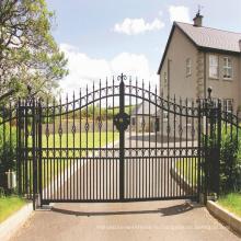 Горячая Продажа красивых жилых кованые конструкции кованые ворота, сварные ворота дом ворота металлические алюминиевые конструкции