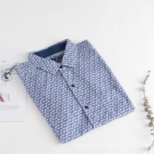 Camisas de manga corta con estampado geométrico para hombres