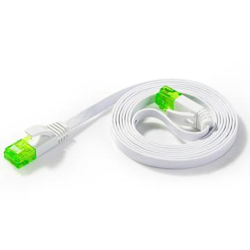 Cable de red plano Cat6 con color verde RJ45