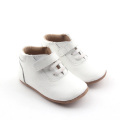 White Ankle Real Cow Leather Casual Shoes