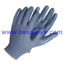 Gant de travail bon marché, gant recouvert de nitrile
