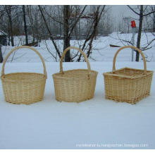 (BC-WB1014) High Quality Handmade Natural Willow Basket/Gift Basket