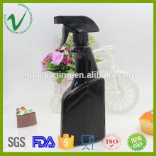 Плоский пустой спрей черный шампунь 500 hdpe спрей пластиковая бутылка