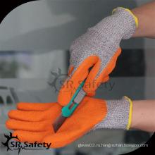 SRSAFETY оранжевые латексные покрытия с режущими перчатками / перчатки латексное производство
