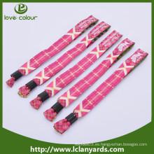 Pulsera de la promoción / wristbands de la tela del festival de encargo / wristband tejido