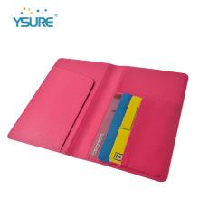 Titular de la tarjeta de crédito de cuero de moda nueva y personalizada