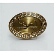 Professional Manufacturer Metal Diamond Gold Lapel Pin (badge-074)