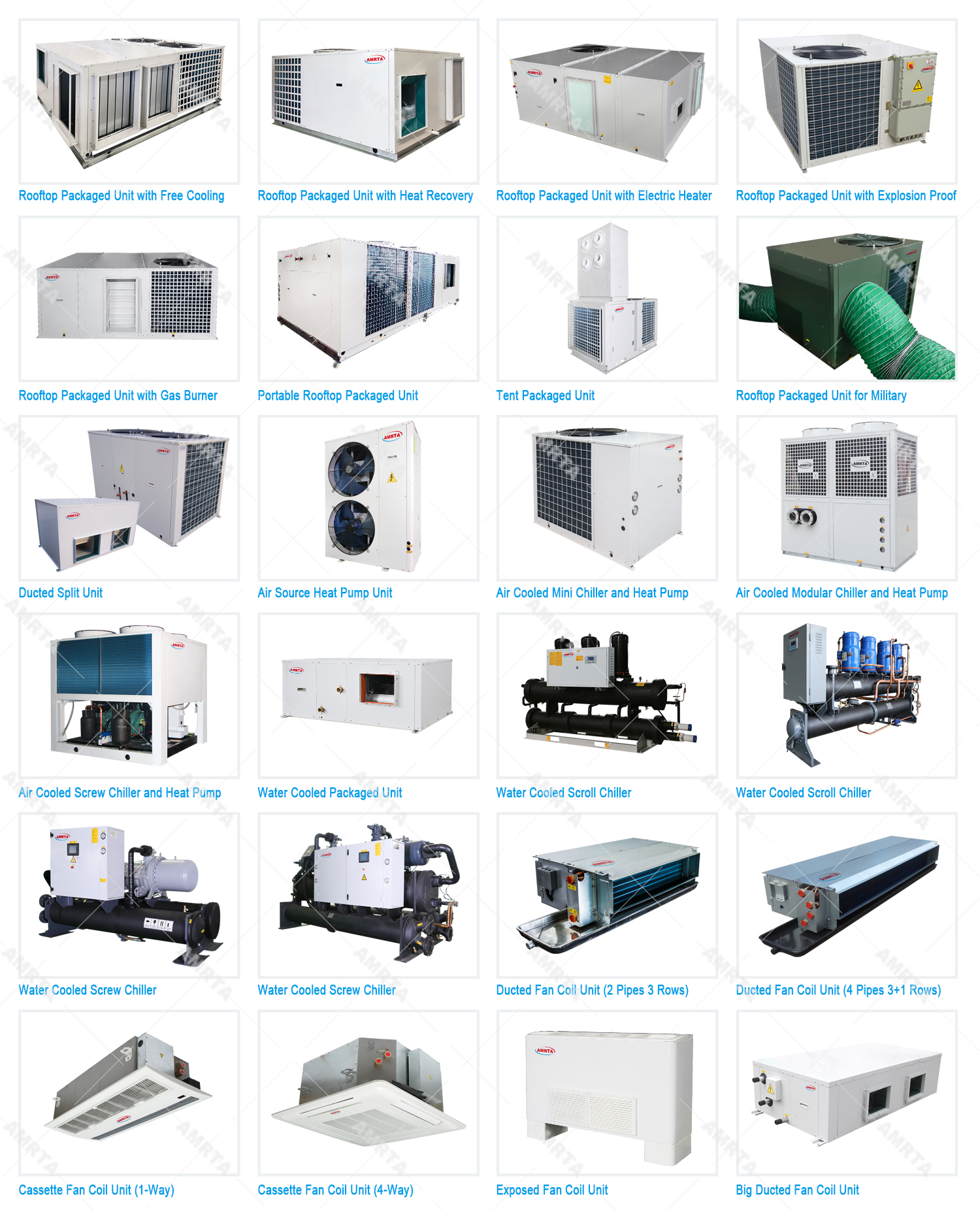 Amrta Central Air Conditioning Catalogue
