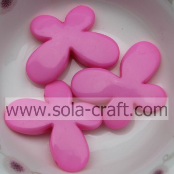 Smooth Face Opaque Butterfly Acrylic Beads For Decoration