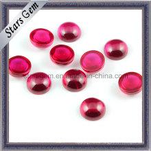 Precioso varios brillantes rubí rojo artificial para los anillos