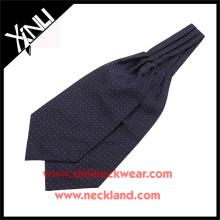 China Hersteller Polyester Jacquard gewebt Polka Dot Ascot Krawatte Cravats für Männer