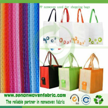 Tela não tecida 100% do polipropileno usada para sacos de compras