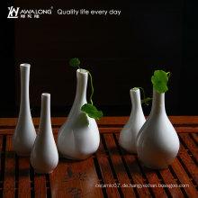 Weißes Geschirr Wohnzimmer Dekoration Vase / schöne Tisch Keramik Wohnkultur Vase