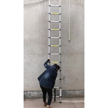 3.8M/12.5FT Single Aluminum Telescopic Retractable Ladder For Lidl