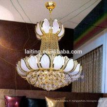 Lampe à suspension en verre blanc Lampe à suspension en cristal