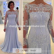Luxury Evening Dress Beading Long Sleeve Pattern Embroidery Party Mother Dresses Red Carpet 2016