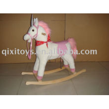 stuffed rocking horse pink, children ride on toy