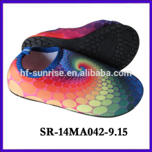 SR-14MA042-9 beach shoes for water new cartoon auqa shoes water printing upper aqua shoes