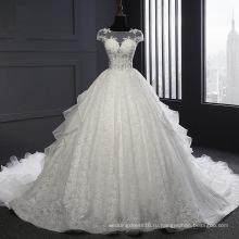 С Коротким Рукавом Кружева Бальное Платье Из Органзы Свадебные