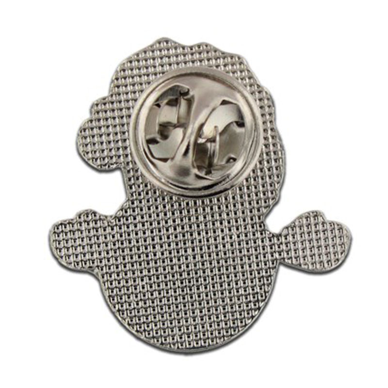 Snowman Lapel Pin Back