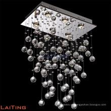 Diseño contemporáneo moderno K9 Crystal Raindrop Chandeliers Techo lámparas colgantes Accesorios 92022