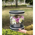Round plastic pvc window flower boxes