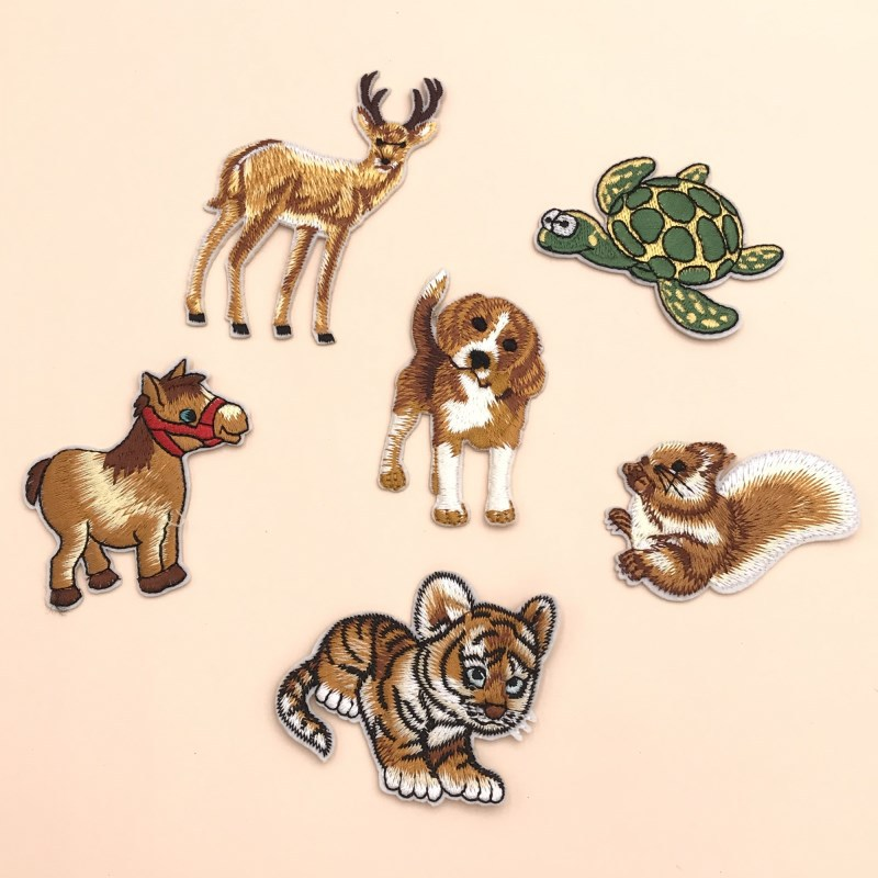 Animal Embroidery Lron On Patches