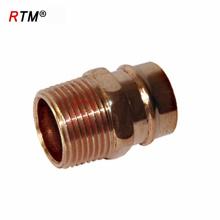 accesorios de cobre roscados accesorios de refrigeración montaje de tubería sanitaria