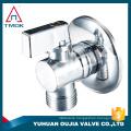 Bathroom hardware filling valve accessories square triangle brass plate core angle valve