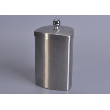 Shaped Metal Jar with Knob Lid