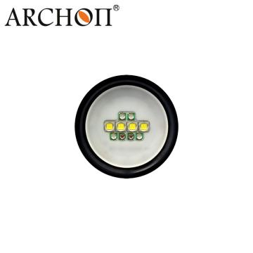 Archon 5000k-5500k Interruptor de botón 2600lm Tortuga de video de buceo W40V