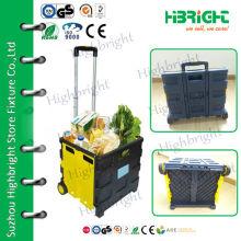 plastic folding luggage trolley
