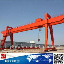 Type de rail Double poutre / grue à portique 100 tonnes