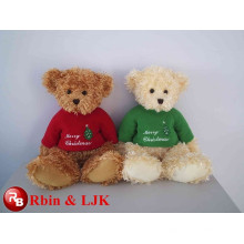 ICTI Audited Factory High Quality Custom promotional red christmas teddy bear plush toy