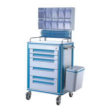 High Quality ABS Hospital Furniture Medical Anesthesia Crash Trolley Cart Commercial Furniture Storage & Closet Modern