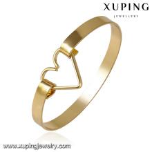 51616- Xuping Personnalisé en laiton bijoux bracelet manchette design avec coeur