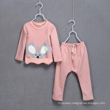 hot sale korea style girls boys fashion cloth set/cotton cloth suits